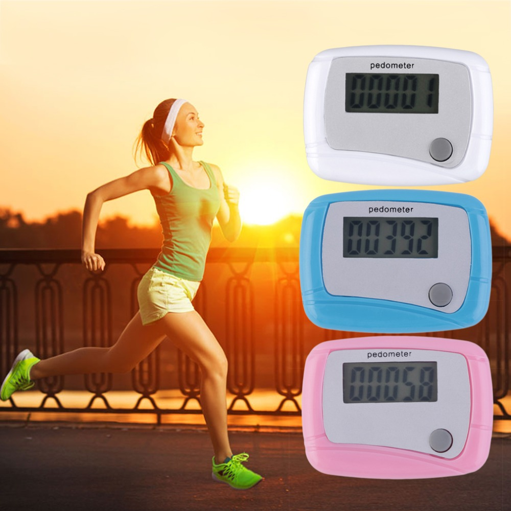 2018 new Portable Mini Digital LCD Running Step Pedometer Walking Distance Counter High Quality
