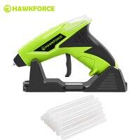 4V Cordless Hot Melt Glue Gun HAWKFORCE Rechargeable USB Fast Heating Craft Repair Home DIY Power Tools with 25PCS Glue Sticks