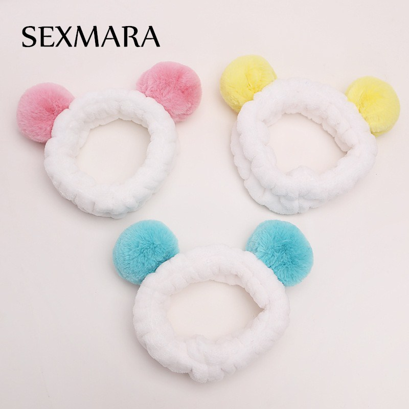 New White Spa Bath Shower Pink Make Up Wash Face Cosmetic Women Hair Accessories Headband Lovely Hair Band Accessories