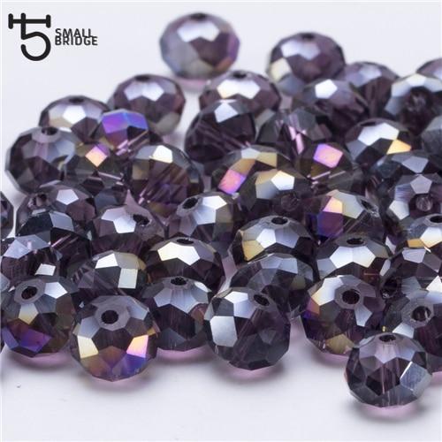 4, 6, 8 мм чешские хрустальные бусины для рукоделия своими руками, цветные граненые стеклянные бусины AB, Z179 - Цвет: Z310AB violet