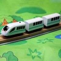 Envío Gratis magnético Tren Eléctrico ferroviario de alta velocidad compatible con Thomas pistas del tren y todo tipo de tren de madera pistas