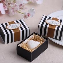White Love Heart Soap Wedding Favors