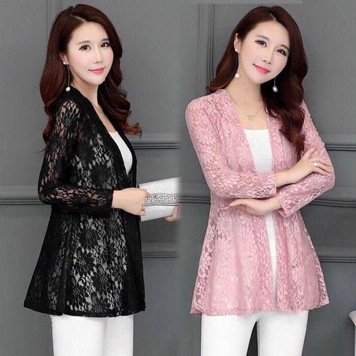 Кружевное Вязаное кимоно кардиган женский пляжный плюс размер кимоно Mujer летние полые прозрачные женские рубашки летняя блуза