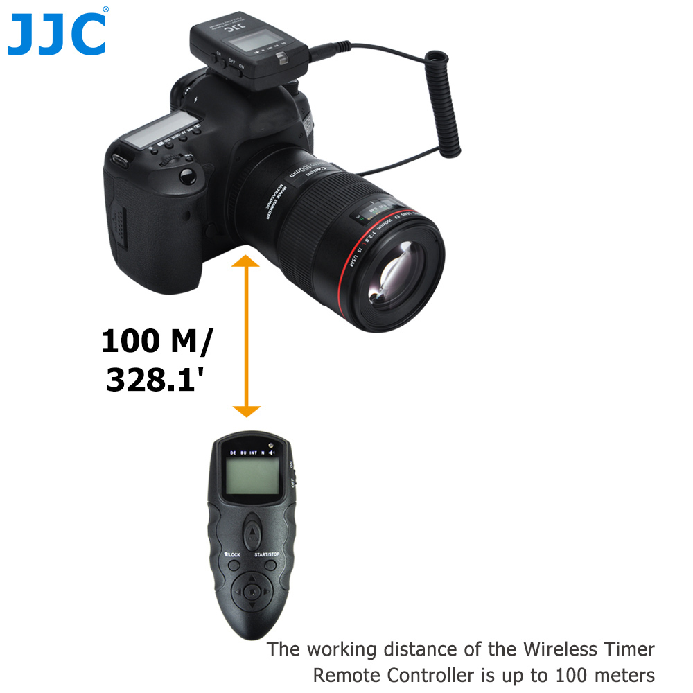 JJC DSLR 100M Transmitter 2 4GHz 56 ChannelsRF Wireless Timer Remote Control for NIKON D810 D850