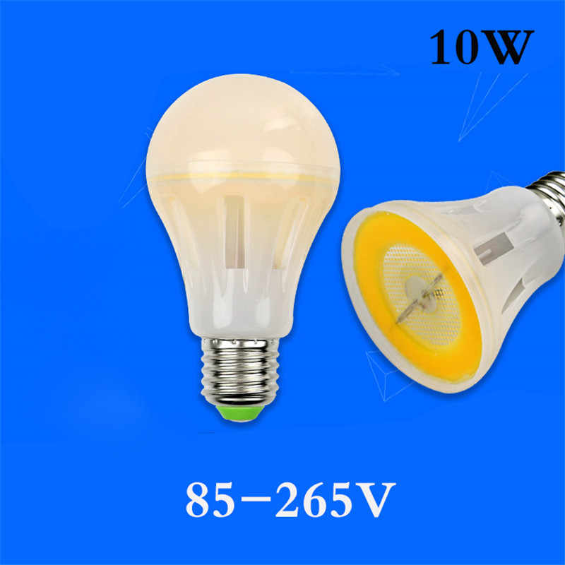 NEW MCOB Spot LED E27 AC110V 220V 85-265V 8W 12W 16W 20W Lampada Warm/Cold White LED Lamp Ampoule LED Candle Luz Bulb Chandelier