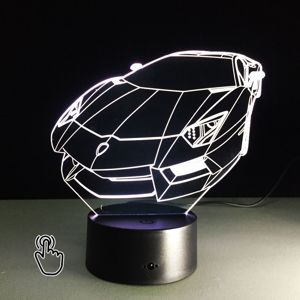 3D Illusion Night Light Sports Racing Car Table Lamp Rechargeable led light  RGB Color Touch Acrylic - Popular Sports Table Lamp-Buy Cheap Sports Table Lamp Lots From