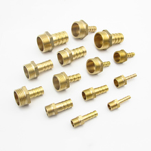 """4 millimetri 6 millimetri 8 millimetri 10mm 12mm 14 millimetri 16 millimetri 19 millimetri 20 millimetri 25 millimetri hose Barb x 1/8 """"1/4"""" 3/8 """"1/2"""" 3/4 """"1"""" Maschio BSP Tubo di Raccordo In Ottone connettore"""