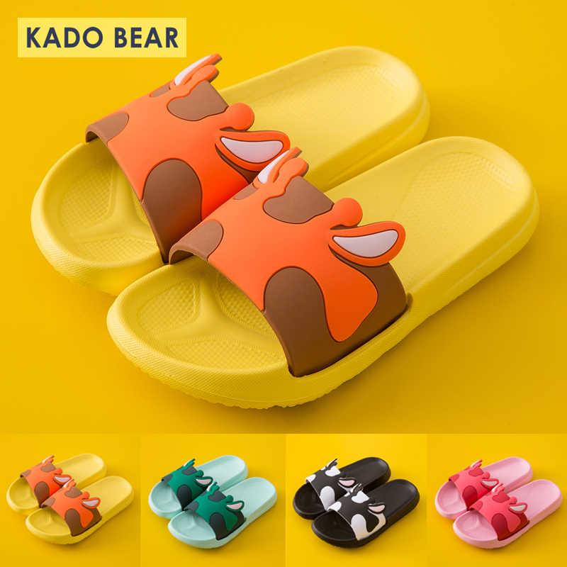Zomer Strand Barefoot Slippers Kids Indoor Huis Tuin Schoenen Kinderen Cartoon Water Slippers Baby Boy Meisje Outdoor Platte Sandaal