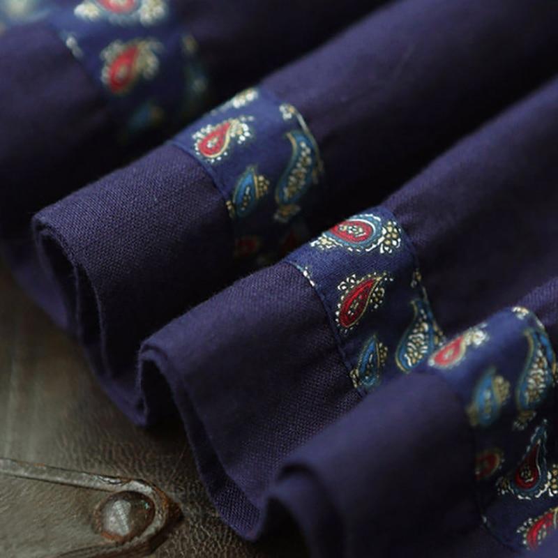 Di Floreale A033 Dell'annata Molla Autunno Cintura Vestito Blu Donne Collare Femininos Biancheria 2018 Vestidos Abiti Cotone Quadrato Ricamo Delle Della Nuova S0xZHt