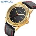 2017 nueva marca de lujo crrju moda hombre relojes deportivos classic fecha masculino impermeable ejército reloj militar relogio masculino
