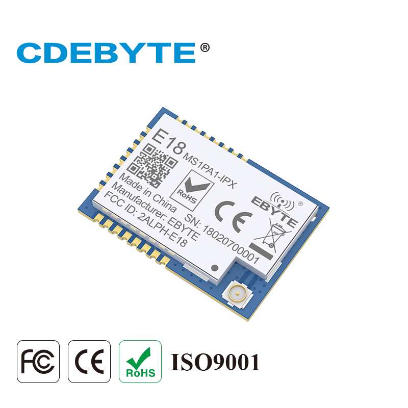 10pcs CC2530 Zigbee Module 100mW 2.4GHz PA SoC IoT Radio Transceiver Ebyte E18-MS1PA1-IPX