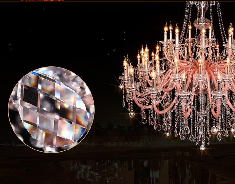 Rózsaszín nagy 30-45 lámpás templomos függő csillár lámpa - Beltéri világítás - Fénykép 2