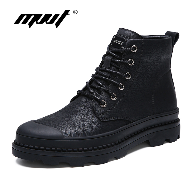 New Style Men Boots Genuine Leather Autumn And Winter Shoes Snow boots Water Proof Work&Safety Shoes Men Quality Ankle Boots
