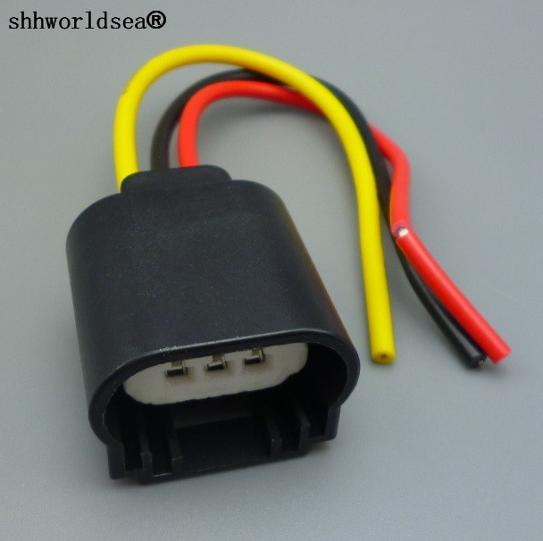 shhworldea 100pcs konektor žárového kabelu žárového kabelu konektor zástrčky adaptér zásuvky H13 konektor žárovky