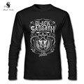Black Sabbath Camisa Dos Homens Camisa Longa Da Luva T de METAL CLÁSSICO da BANDA de ROCK Moda Primavera Outono Tees Streetwear Camisa Topo