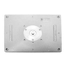 Mesa de Fresado de aluminio Placa de Inserción Para los Populares Modelos de Cortadoras Máquina Engrving DIY Carpintería Router Bancos