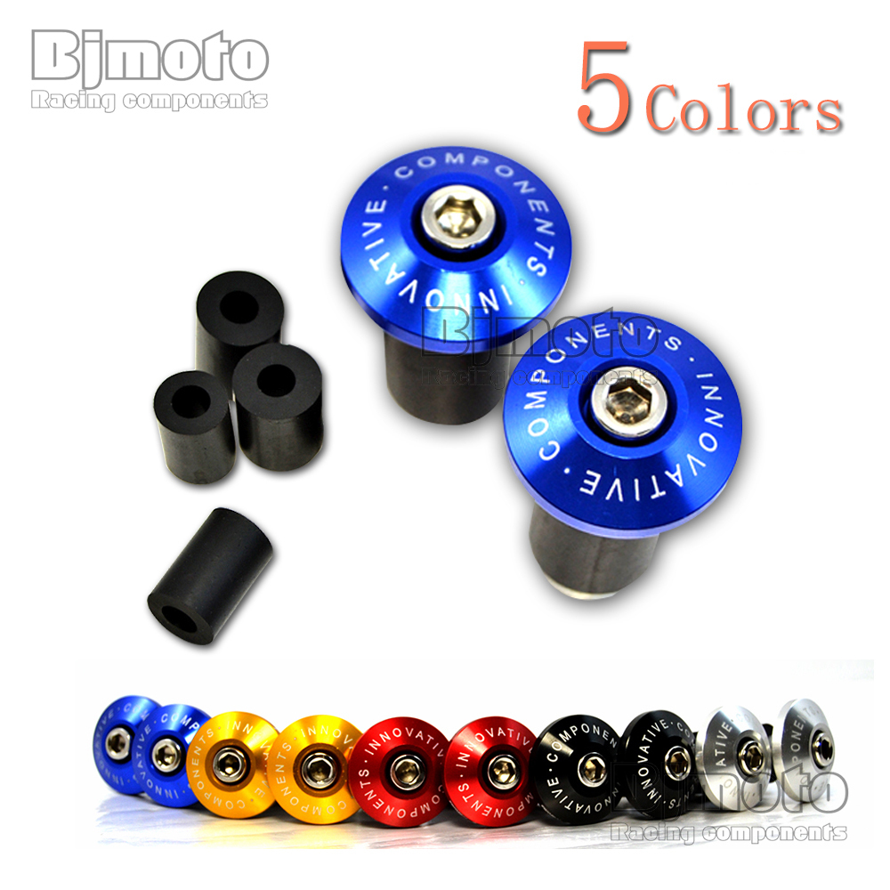 BJMOTO Hot Sale Motorcycle Bike CNC Handlebar End Plugs Slider MTB Road Bicycle Cycling Handlebar Grips Handle Bar Cap Stoppers