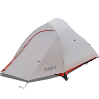 FLYTOP Waterproof 8000mm Outdoor Tent Ultralight 1- 2 Person 20D Silicone Double Layers Aluminum Rod Travel Hiking Camping Tents