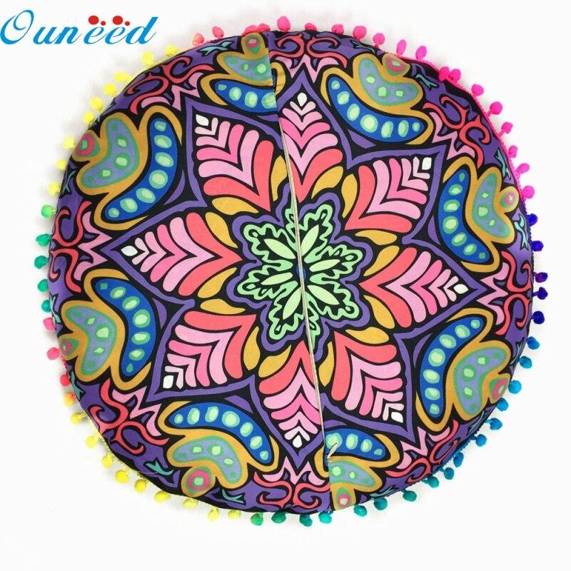 Ouneed New Design Indian Mandala Floor Pillows Round