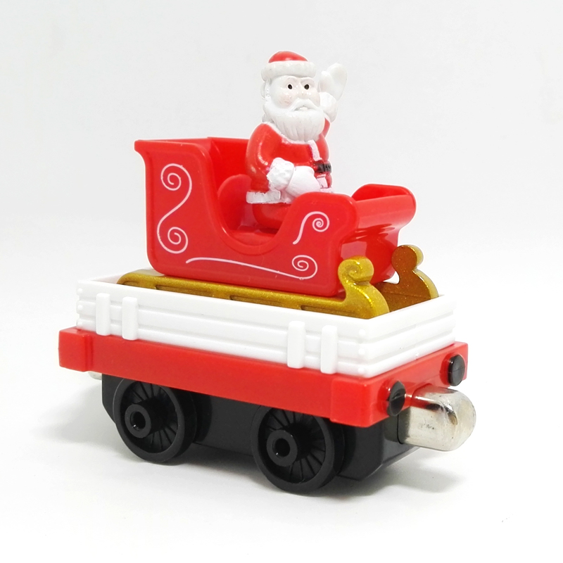 m030 New diecast magnetic Thomas and friend Santa's sleigh transport trucks Limited Edition Children Christmas gifts