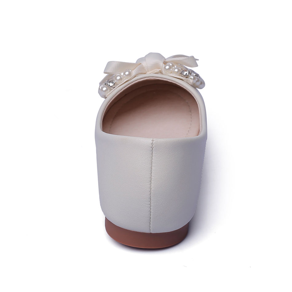 MSMAX Children PU Leather Shoes Beading Bowtie Kids School Single Shoes  Breathable Mary Janes Girls Dress Party Wedding Shoe -in Leather Shoes from  Mother ... e38bbc404a97