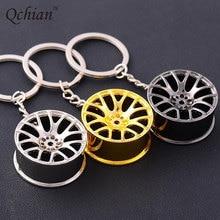 New Design Cool Luxury Metal Keychain Car Key Ring Cool Luxury Wheel Hub Key Chains Creative Wheel Hub Chain For Man Women Gift