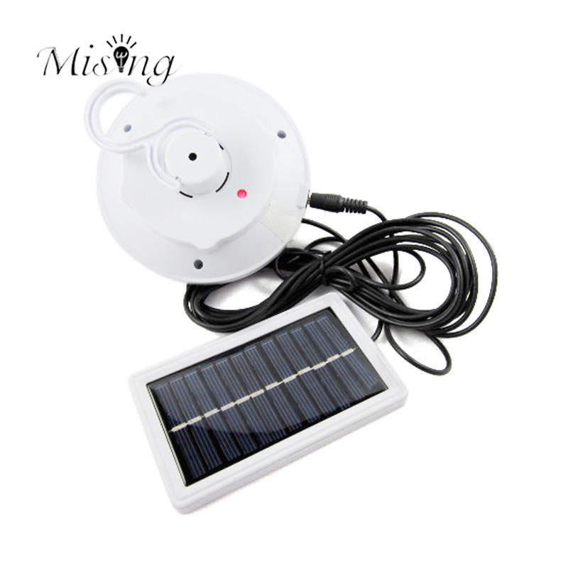 Mising 8 LED Solar Powered Yard Outdoor Tent Light Remote Control Camping Lamp Solar panel Lights for Outdoor Garden Decoration