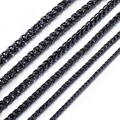3/4/5/6/7/8mm Customize ANY Length Wheat Link Chain Black Stainless Steel Necklace Mens Boys Wholesale Jewelry KNM44