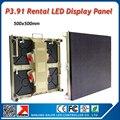 10pcs P3.91500x500mm led display boards with 5pcs flight case 1pcs LINSN TS802D sending card for a big indoor led display wall