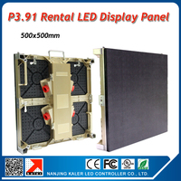 TEEHO 10pcs P3.91 500x500mm led display boards with 5pcs flight case 1pcs TS802D sending card for a big indoor led display wall