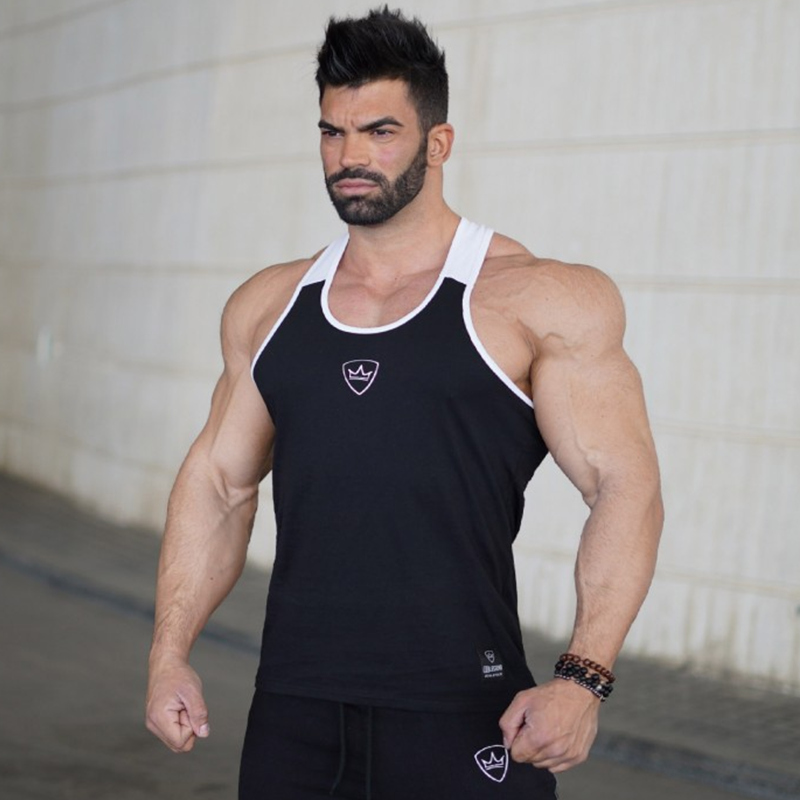 Mens Bodybuilding Workout   Tank     top   Man Casual Patchwork Sleeveless shirt 2018 New Male Gyms Fitness Sling Vest Crossfit Clothing