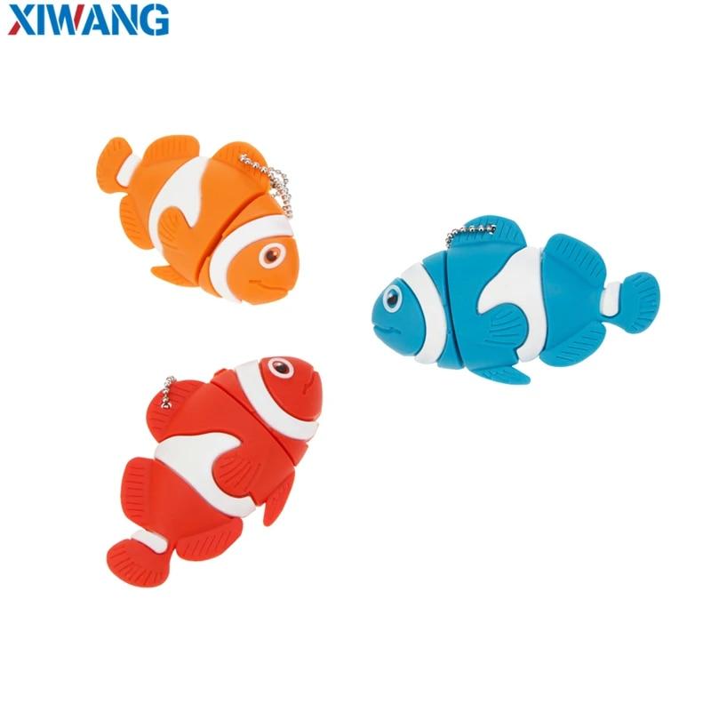 USB Flash Drive 128GB 64GB 32GB Cartoon  nemo fish pendrives pen drives 16GB 8GB Finding Nemo USB 2.0 flash memory stick u disk (2)