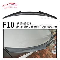 F10 Carbon Fiber Rear Spoiler M4 Style Trunk Wing for BMW 5 Series F10 M5 2010 2016 4 door sedan 520i 525i 528i 530i 535i