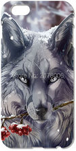 Retail Funny Wolf For iphone 4 4S 5 5S SE 5C 6 6S Plus For iPod Touch 4 5 6 Back Skin Plastic Hard Cover Mobile Cell Phone Case