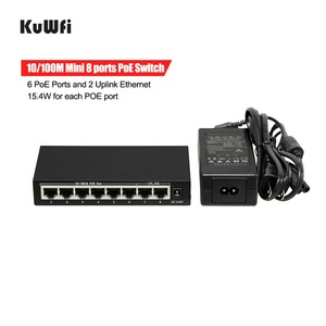 Image 4 - 6+2 Ports Ethernet Switch POE With 6 PoE Ports and 2 Uplink Ethernet IEEE 802.3af Support MDI/MDIX 15.4Watts Per Port
