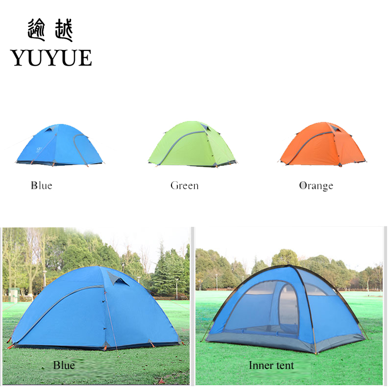 3-4 person waterproof tourist tent for hiking the tent camp Waterproof index 3000mm aluminium pole carpas de camping tente 5