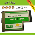 New Cardbus Express to USB 3.0+eSATA II 2.0 Combo to Express Card ExpressCard 54mm Adapter,Wholesale Free Shipping Dropshipping