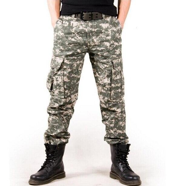 2017 Для мужчин камуфляж Военная Униформа Брюки для девочек свободные удобные брюки-карго Мотобрюки Camo Лидер продаж новый бренд оптовая прод...