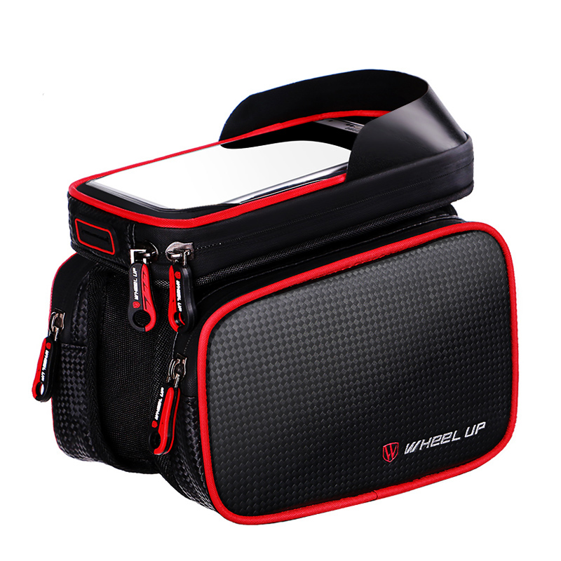 WHEEL UP New 6 2 Inch Waterproof Touch Screen Bike Bag Front Frame Top Cell Phone TPU Cycling Bag MTB Road Mountain Bicycle Case in Bicycle Bags Panniers from Sports Entertainment
