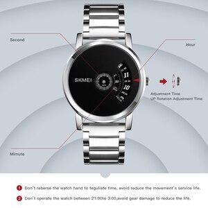 Image 4 - SKMEI Mens Quartz Watch Waterproof Full Steel Fashion Watches Top Luxury Brand Wristwatches Male Clock Relogio Masculino 1260
