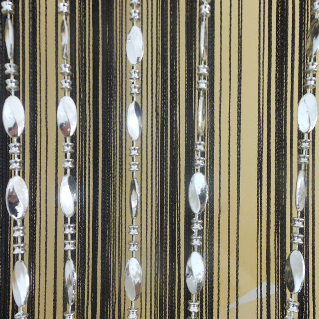 Online Shop Tangpan String Big Bright Buttons Beaded Door Curtain