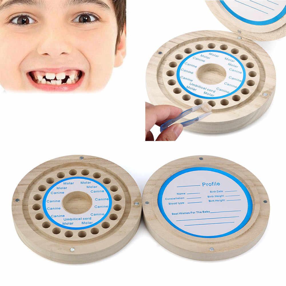 Nuovo Capretti di arrivo del bambino della ragazza del ragazzo Dente Box Organizzatore Del Bambino Risparmia Latte Denti di Legno Scatola di Immagazzinaggio del bambino dentizione dentes de leite organizad