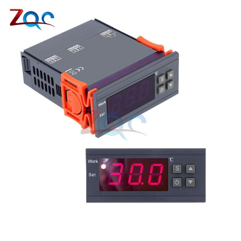 MH1210W 90-250V 10A 220V Digital Temperature Thermostat Regulator Controller -50~110 Celsius Heating Cooling Control NTC Sensor
