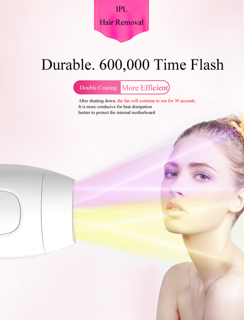 600000 flash professional permanent IPL epilator laser hair removal electric photo women painless threading hair remover machine 3