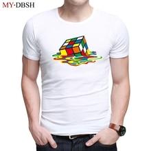 Venta caliente 2018 verano Rubik Cube camiseta nueva moda diseño elegante  Sitcoms The Big Bang Theory hombres Casual camiseta en. 45f67c34c6e