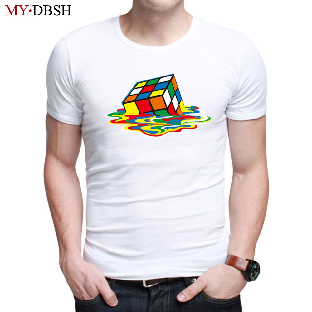 Hot Sale 2018 Summer Rubik Cube Tshirt New Fashion Stylish Design Sitcoms The Big Bang Theory Mens Casual T shirt Free Shipping
