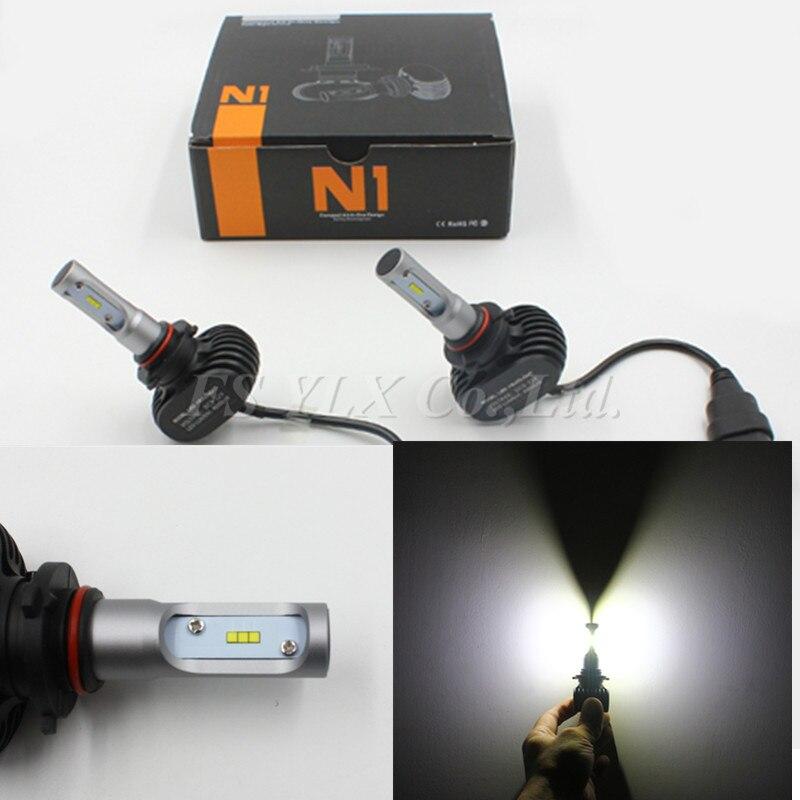 5sets auto headlight 9005 HB3 H10 LED Car Headlight Bulbs 50W 8000LM 12v High Power LED Headlights 6000K Led fog lights Lamps