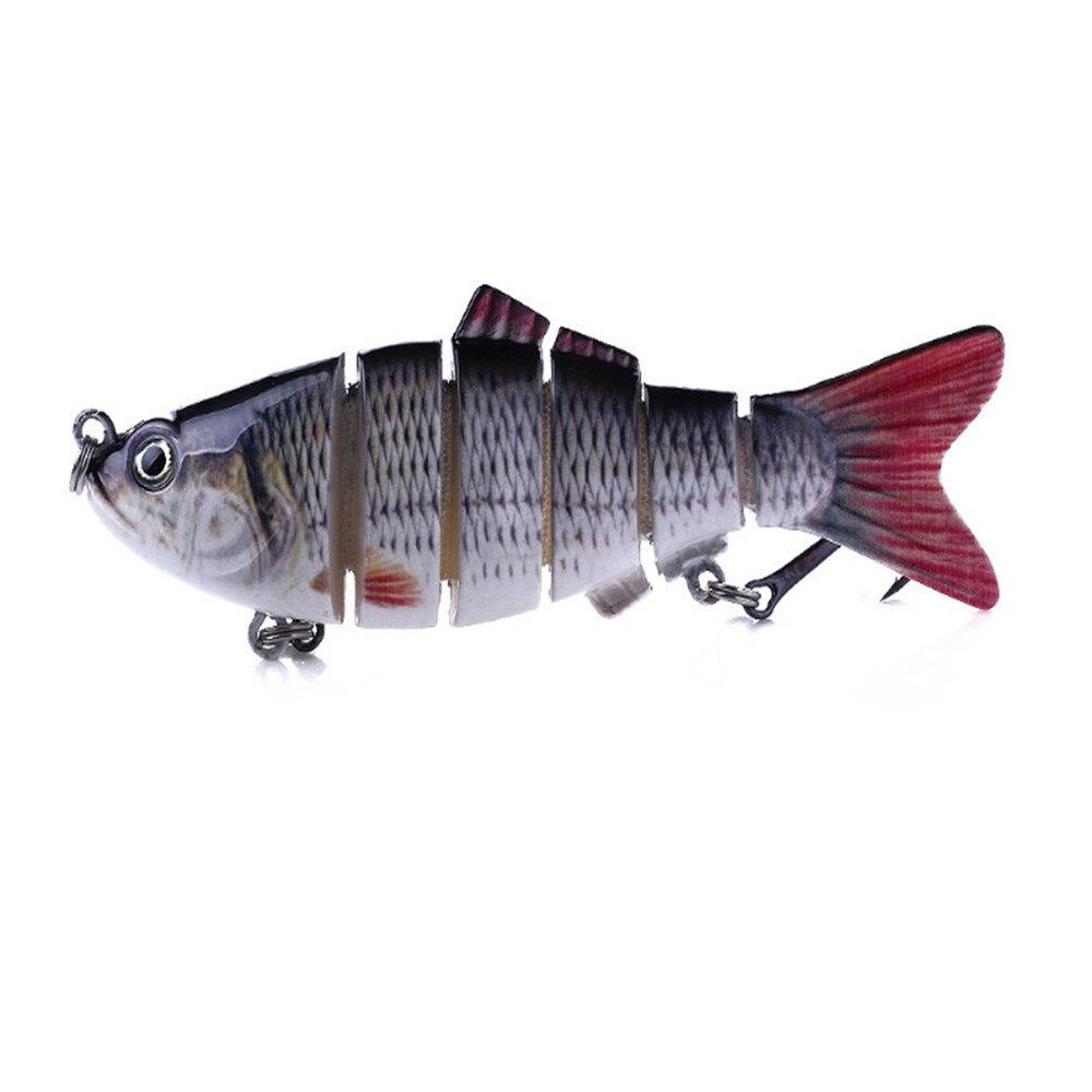Multi-joint Pike Fishing Lure Bionic Plastic Bait Swimbait Hook Fishing 3D #ur