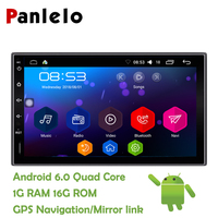 Panlelo 2 Din Android 6.0 Car Stereo 7 Inch Quad Core Head Unit 1080P GPS Navigation Audio Radio Built in Wi Fi Bluetooth RDS