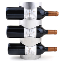 Stainless Steel 3 bottle wall mounted Wine Rack wall wine holder